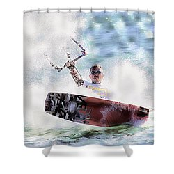 Kitesurf  Shower Curtain