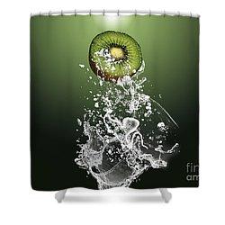 Kiwi Splash Shower Curtain by Marvin Blaine
