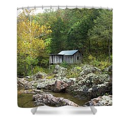 Shower Curtain featuring the photograph Klepzig Mill by Julie Clements