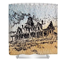 Knippenberg Mansion Glendale Ghost Town Montana Shower Curtain by Kevin Heaney