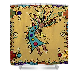Kokopelli Dance Shower Curtain
