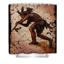 Kokopelli The Flute Player  Shower Curtain