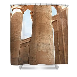 Shower Curtain featuring the photograph Kom Ombo Temple by Silvia Bruno