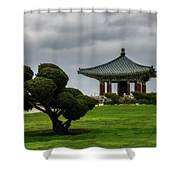 Korean Bell Of Friendship Shower Curtain