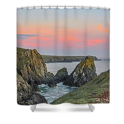 Kynance Cove At Sunset  Shower Curtain