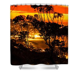 La Jolla Sunset Shower Curtain