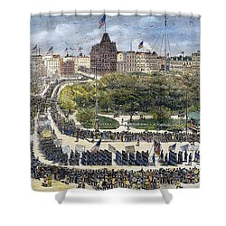 Labor Day Parade, 1882 Shower Curtain by Granger