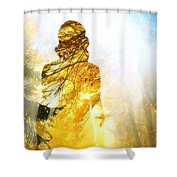 Lady Autumn Shower Curtain by Lilia D