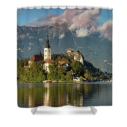 Shower Curtain featuring the photograph Lake Bled by Brian Jannsen