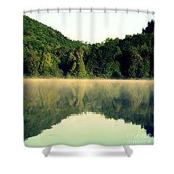 Lake Shower Curtain by France Laliberte
