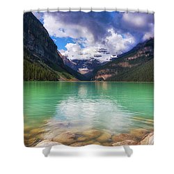 Lake Louise Is Really Green Shower Curtain