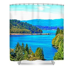 Lake Mayfield Shower Curtain