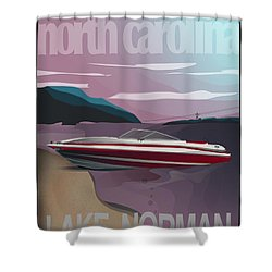 Lake Norman Poster  Shower Curtain