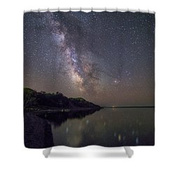 Shower Curtain featuring the photograph Lake Oahe  by Aaron J Groen