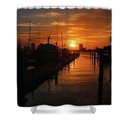 Shower Curtain featuring the photograph 1- Lake Park Marina by Joseph Keane