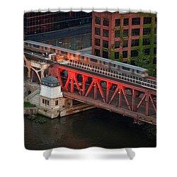Lake Street Crossing Chicago River Shower Curtain by Steve Gadomski