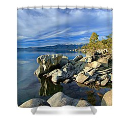 Lake Tahoe Rocks Shower Curtain