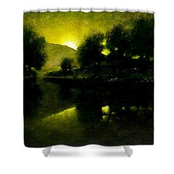 Lakeside Sunset Shower Curtain