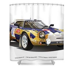 Lancia Stratos Hf Shower Curtain by Alain Jamar