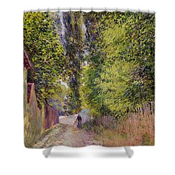 Landscape Near Louveciennes Shower Curtain by Alfred Sisley