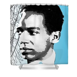 Langston Hughes Shower Curtain by Asok Mukhopadhyay