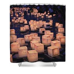 Lantern Ceremony Shower Curtain by Brandon Tabiolo - Printscapes