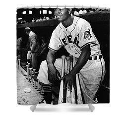 Larry Doby (1923-2003) Shower Curtain by Granger
