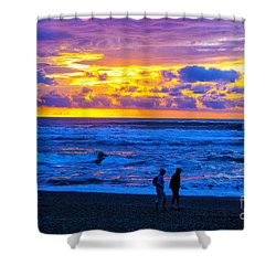 Shower Curtain featuring the photograph Last Light by Rick Bragan