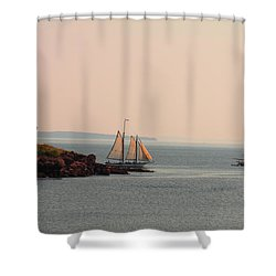 Leaving Camden Harbor Shower Curtain