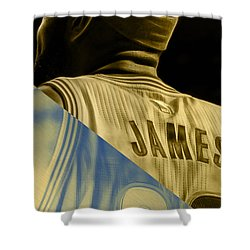 Lebron James Collection Shower Curtain by Marvin Blaine