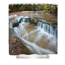 Ledge Brook - White Mountains New Hampshire Usa Shower Curtain by Erin Paul Donovan