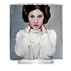 Leia Shower Curtain by Tom Carlton