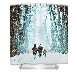 Let It Snow Shower Curtain by Marji Lang