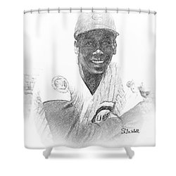 Ernie Banks Shower Curtain