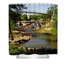 Liberty Bridge Shower Curtain by Flavia Westerwelle