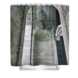 Shower Curtain featuring the photograph Library Portico by Jessica Jenney