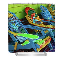 License To Chill Shower Curtain by Debbi Granruth