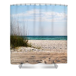 Shower Curtain featuring the photograph Lido Beach by Athala Carole Bruckner