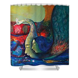 Life Shower Curtain by Sanjay Punekar