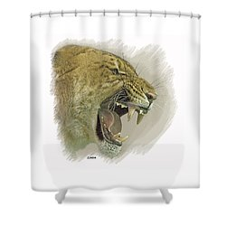 Liger Shower Curtain