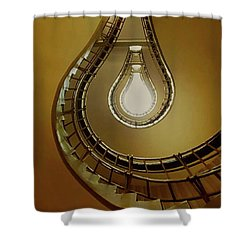 Light Bulb Staircase Shower Curtain