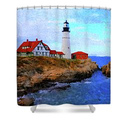 Lighthouse Shower Curtain by Gary Grayson