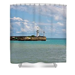 Lighthouse Shower Curtain by Irina Afonskaya