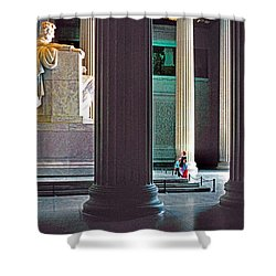 Lincoln Memorial Shower Curtain by Dennis Cox