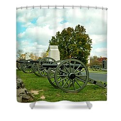 Shower Curtain featuring the photograph Line Of Fire by Paul W Faust - Impressions of Light