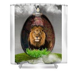 Lion Art Shower Curtain by Marvin Blaine