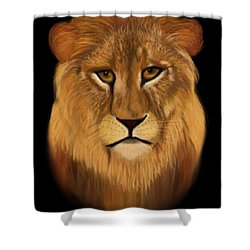 Lion - The King Of The Jungle Shower Curtain