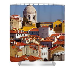 Lisbon View Shower Curtain by Carlos Caetano
