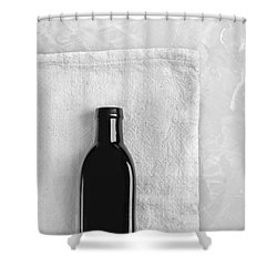 Shower Curtain featuring the photograph Little Black Bottle  by Andrey  Godyaykin