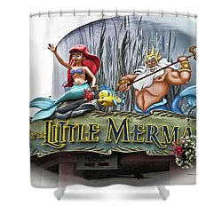 Little Mermaid Signage Mp Shower Curtain
